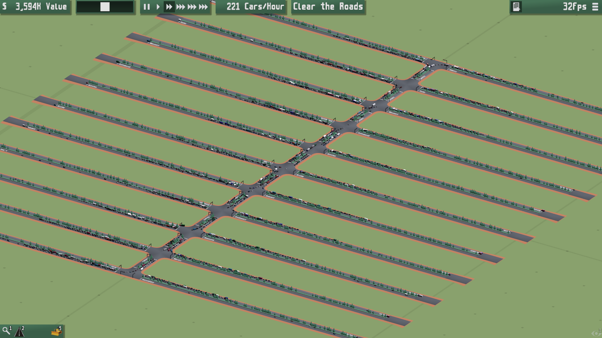 Testing the simulation with thousands of vehicles.